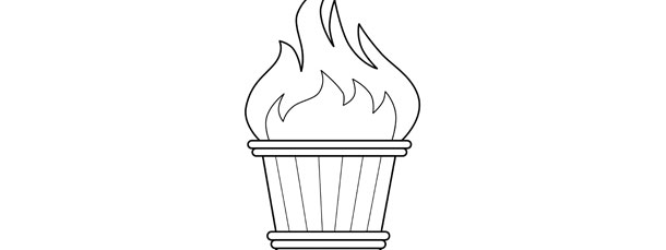 olympic torch template large