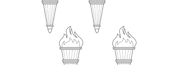olympic torch template small