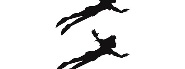 Peter Pan Flying Silhouette Cut Out