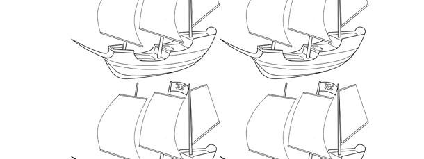 Pirate Ship Template