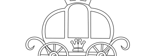 princess carriage template