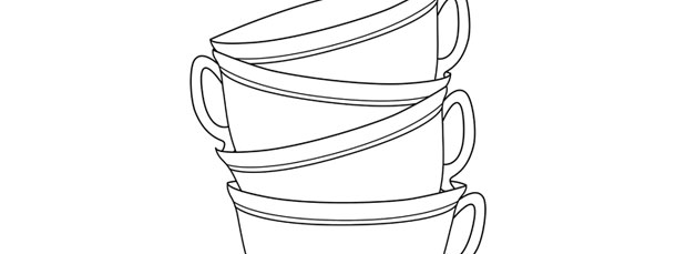 Stack Of Teacups Template