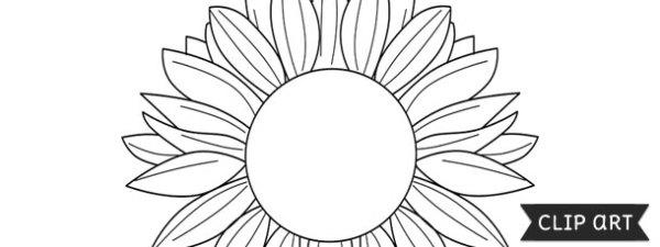 sunflower template clipart