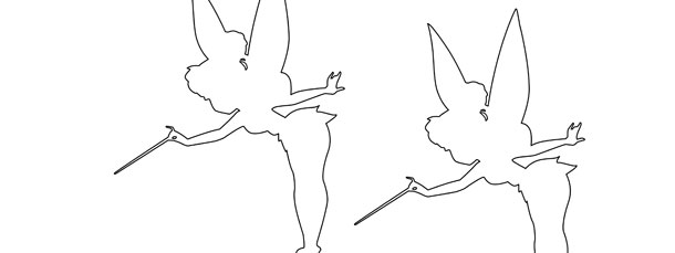 Tinkerbell Silhouette Template