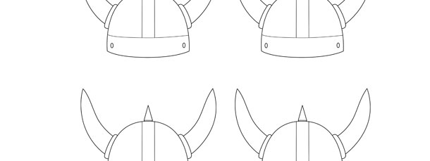 Viking Helmet Template