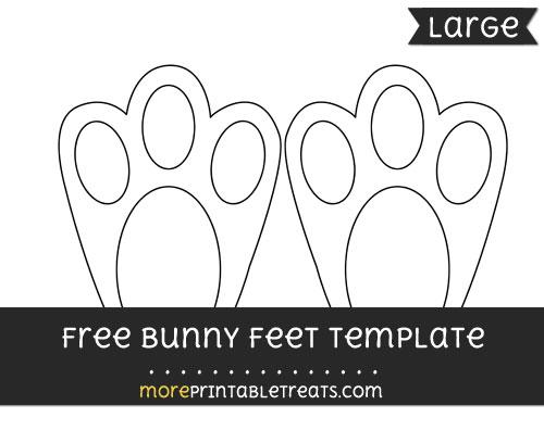 Bunny Feet Template