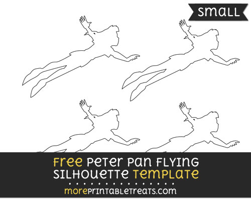 Peter Pan Flying Silhouette Template