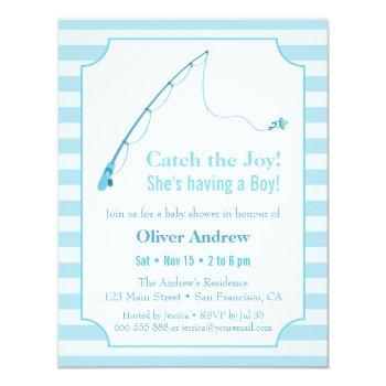 Fishing Baby Shower Invitations Mother Owl