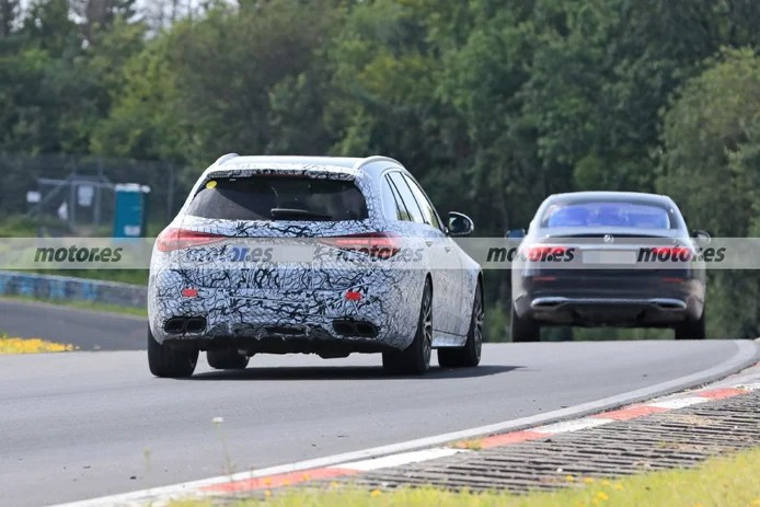 Spy photo Mercedes-AMG C 63 Estate 2022 at Nürburgring - exterior
