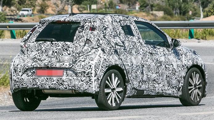 Toyota Aygo 2022 - rear spy photo