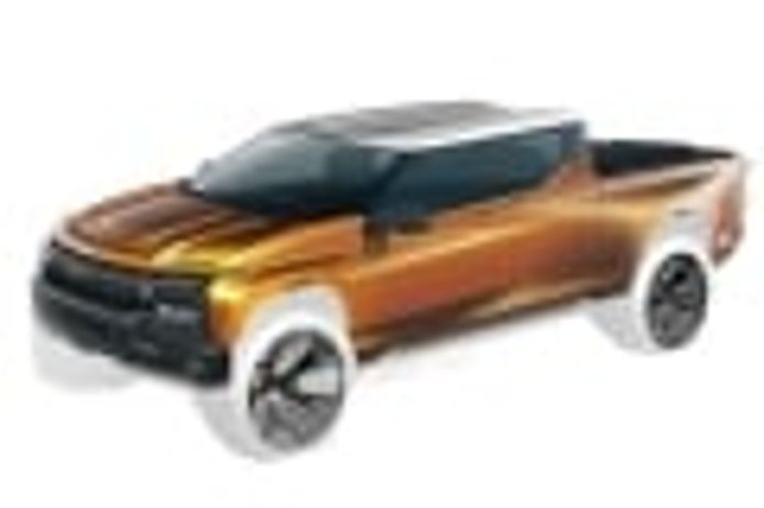 GM sketch looks to tease future electric Chevrolet Silverado