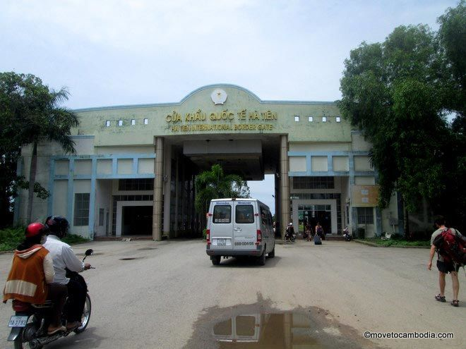 The Cambodia-Vietnam border crossing