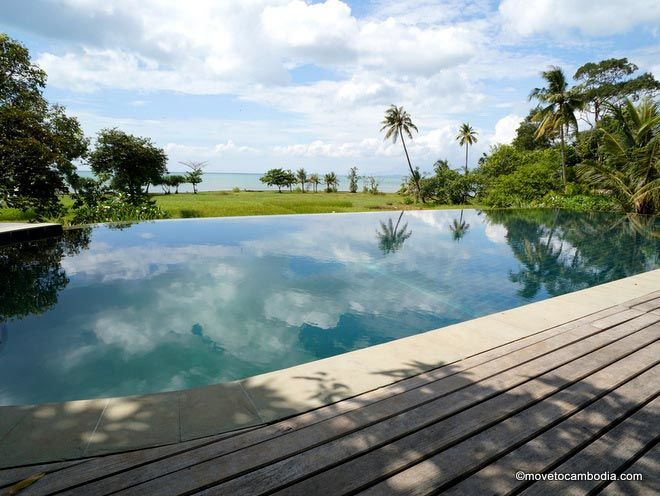 pool view at Villa Romonea Kep