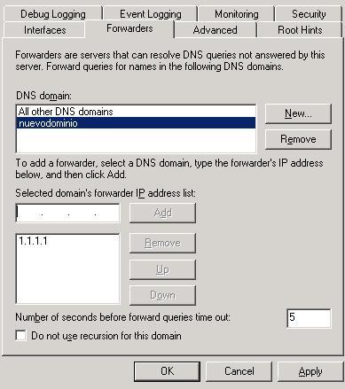 forwarding windows 2003