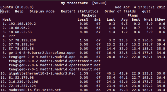 my traceroute 2012