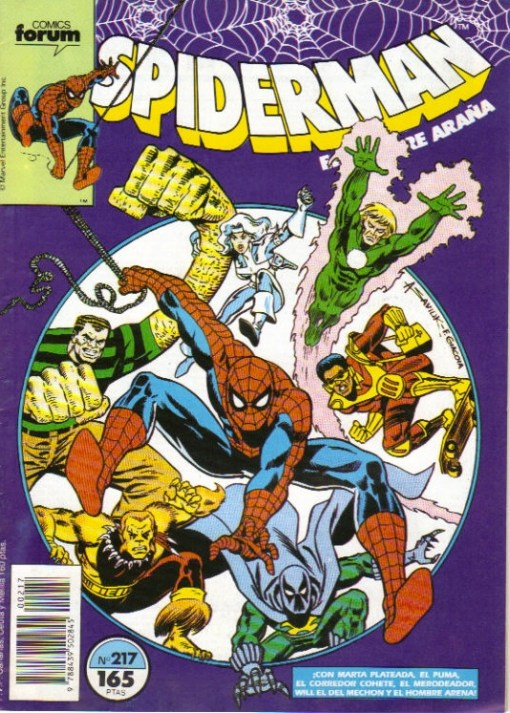spiderman 217 marvel forum portada