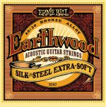 Ernie Ball 2047 Earthwood 80 / 20 Bronze Silk And Steel Extra Soft Acoustic Guitar Strings