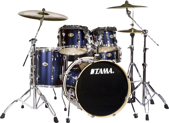 Tama Rockstar 5 Piece Drum Set With Meinl Cymbals Midnight Blue