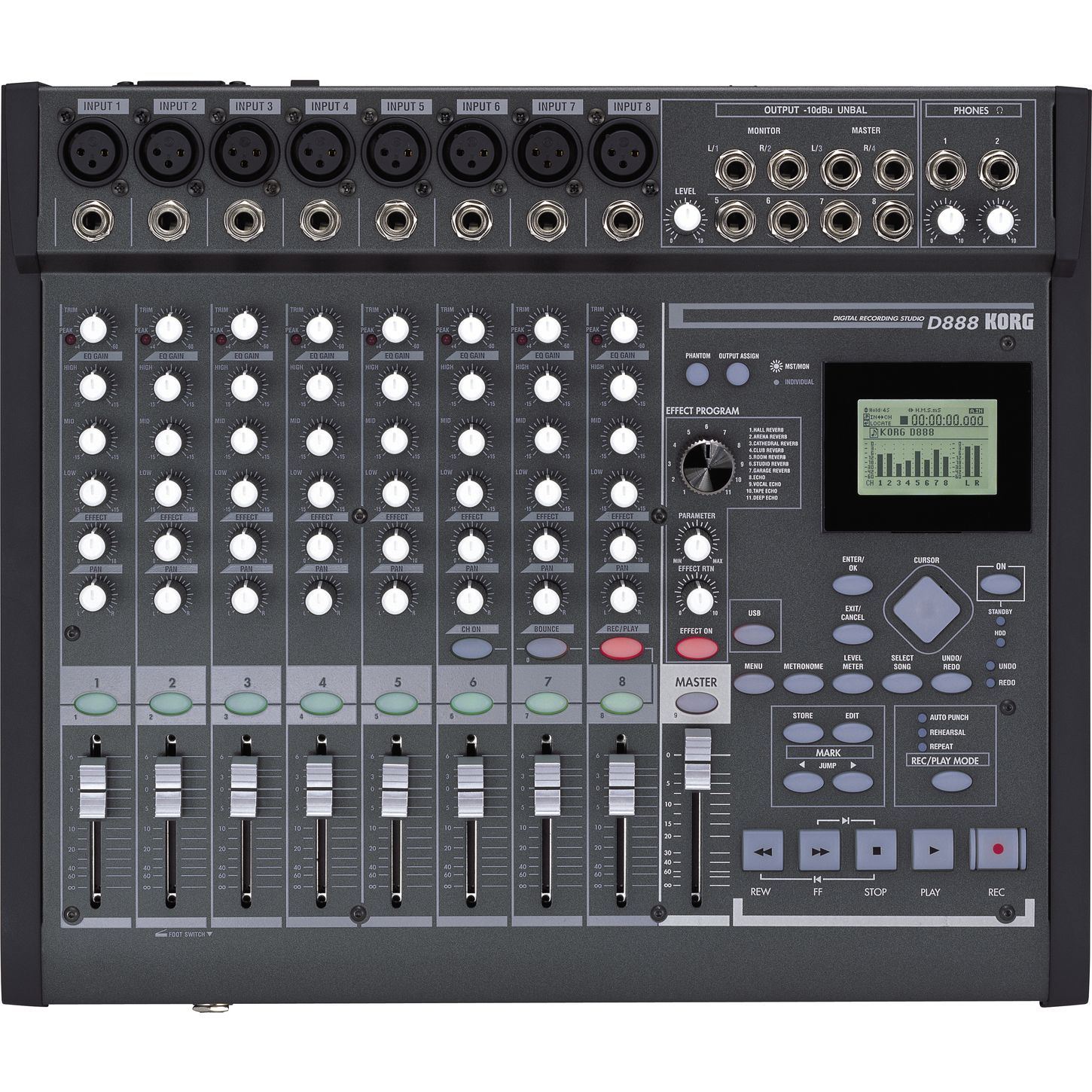 Korg D888 8 Track Digital Recording Studio