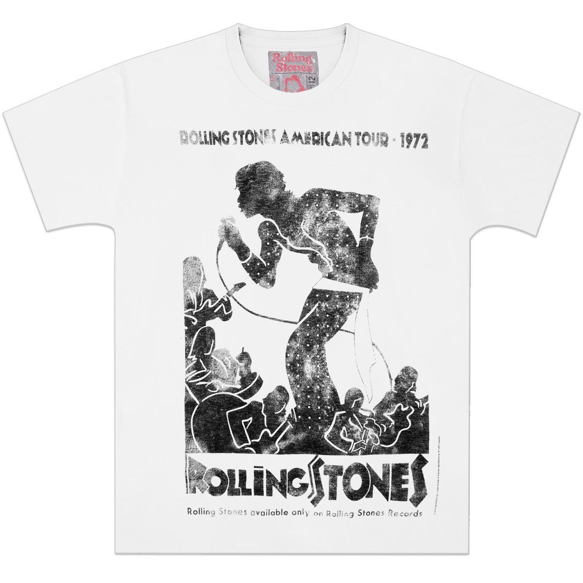 Rolling Stones Vintage Tour Poster T Shirt