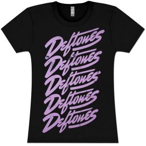 Deftones Script Repeat Girlie T-Shirt