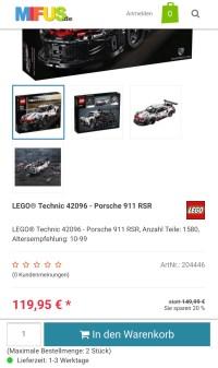 Lego Technic Porsche 42096 fr 119,95 + VSK