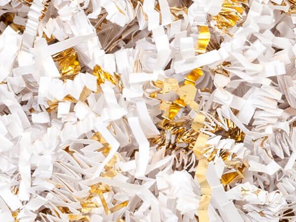 white gold crinkle cut