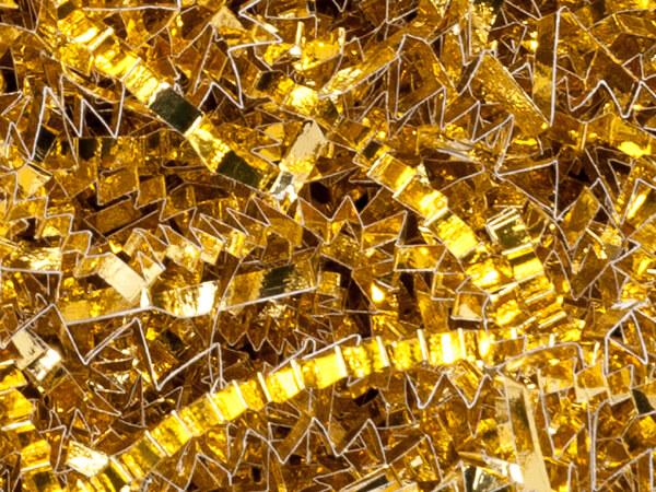 metallic gold crinkle cut