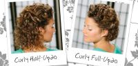 WATCH: Wedding Inspired Updo For Short, Curly Hair