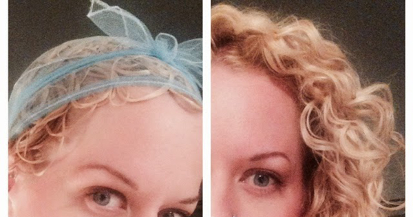 How to Plop Curly Hair with a Veil Net