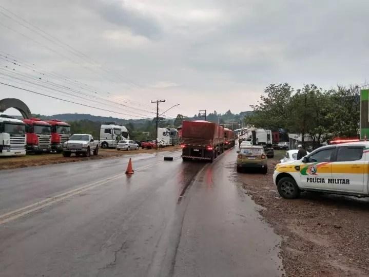 Paralisações ocorrem também em municípios da região Oeste. – Foto: PMRV/Divulgação/ND