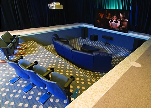 Turning An Indoor Pool Into A Home Theater.