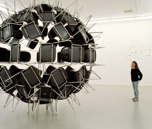 Black Whole Conference Chair Sculpture by Michel de Broin