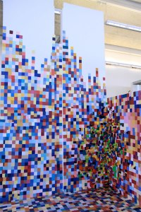 Paint Swatch Art Installation - Neatorama