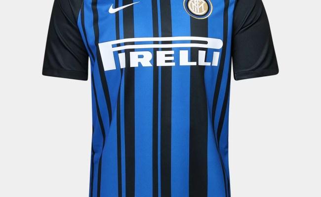 Camisa Inter De Milão Home 17 18 S N Torcedor Nike