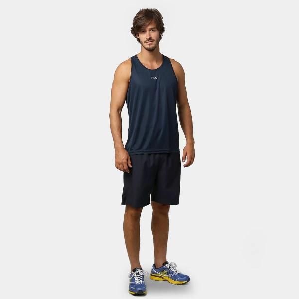 Camiseta Regata Fila Basic Marinho Prata Netshoes - imgUrl a9282040c3d