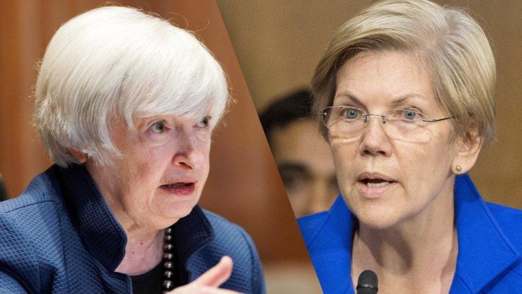 US Senator Warren Urges Treasury Secretary Yellen to Urgently Address Cryptocurrencies' Risks