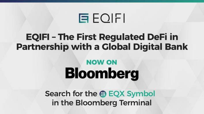 EQIFI, the DeFi in Partnership With a Global Bank Now Available on the Bloomberg Terminal