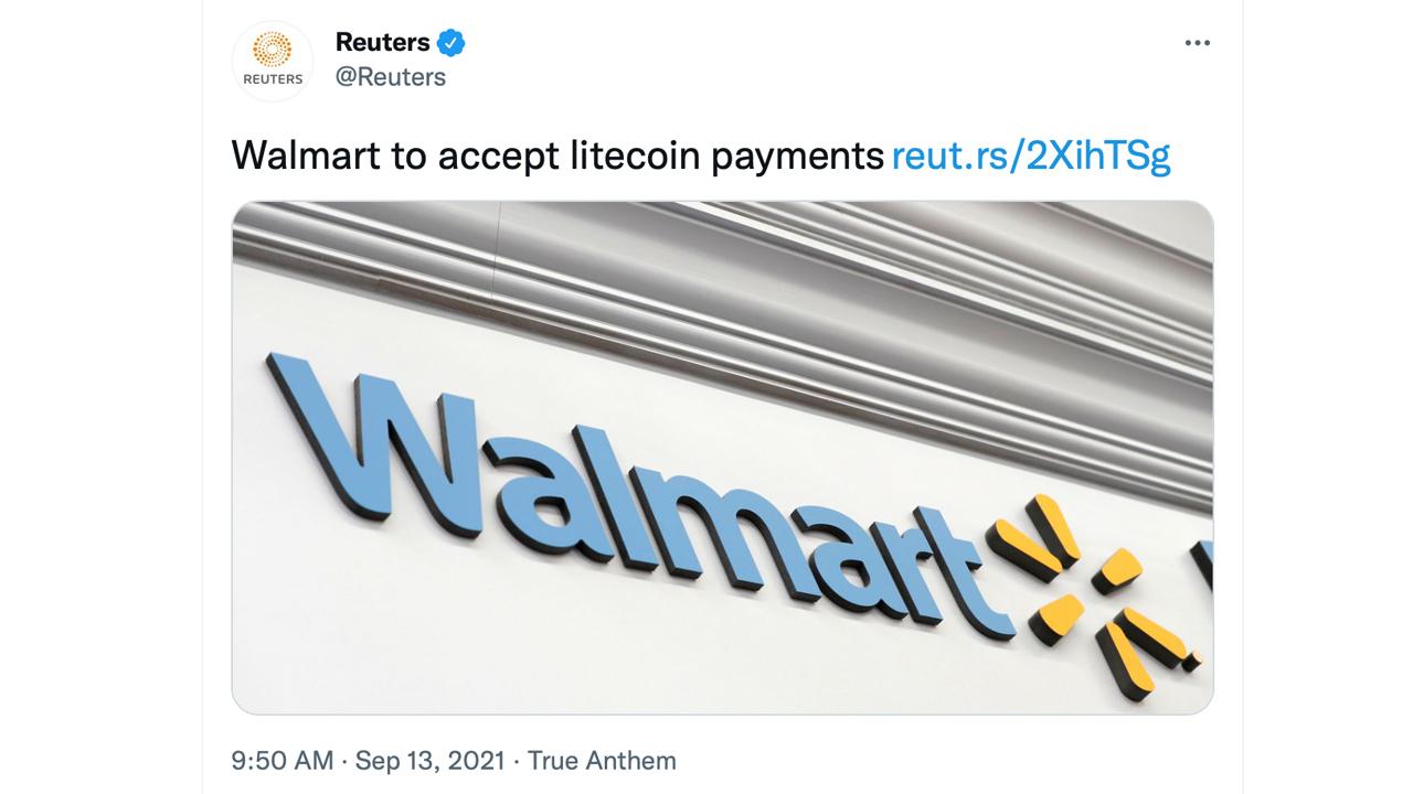 Noticias de pago de Walmart y Litecoin desacreditadas por el portavoz de Walmart, los precios de LTC tiemblan por noticias falsas