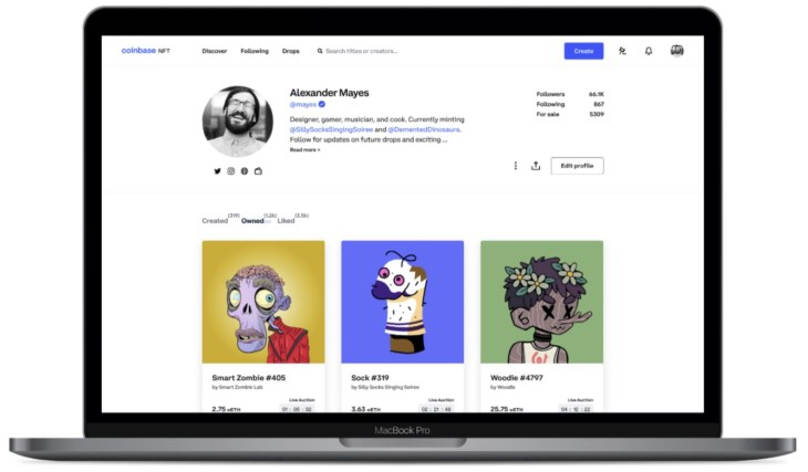 Coinbase Launching NFT Marketplace With Social Features to Grow Creator Community 'Exponentially'