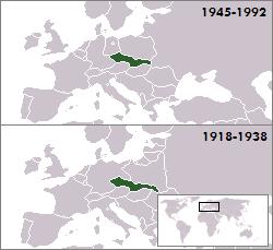 Location of Czechoslovakia