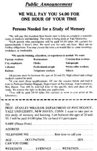 Stanley Milgram New World Encyclopedia