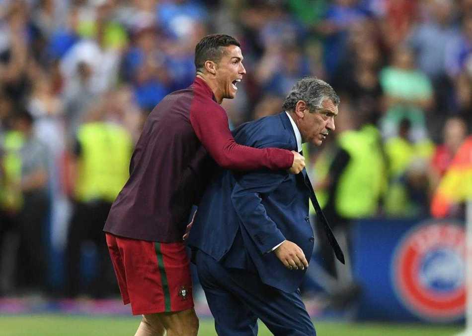 Cristiano Ronaldo e Fernando Santos Portogallo Foto slatecom