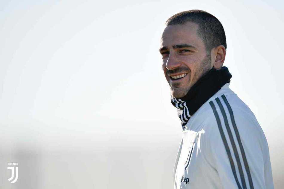 Bonucci trainng Juventus Twitter