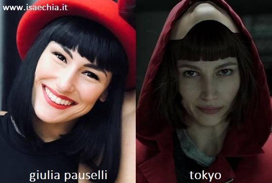Somiglianza Tra Giulia Pauselli E Tokyo De La Casa Di Carta