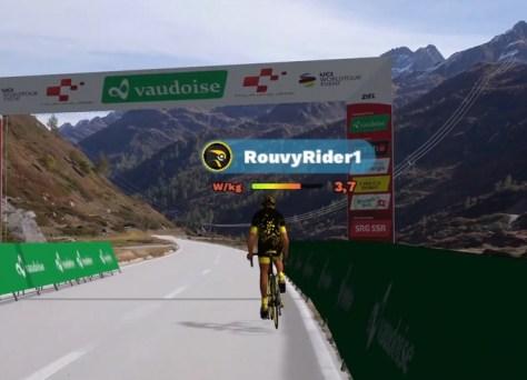 É assim que você ainda pode competir: o Tour da Suíça vem com uma colher e permite que os profissionais façam um percurso virtual