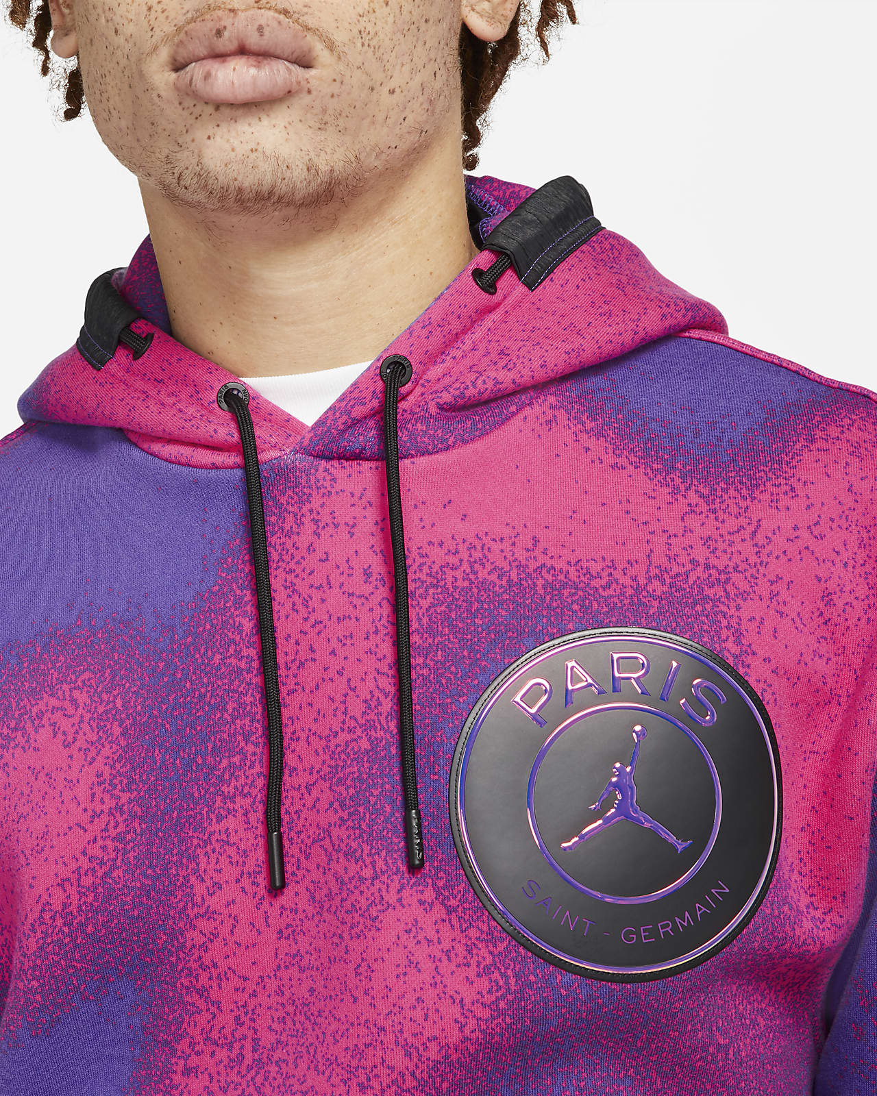 paris saint germain fleece hoodie mit print fur herren