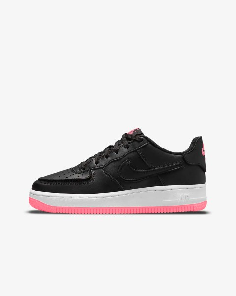 GS Nike Air Force 1/1 'Black / Hyper Pink'