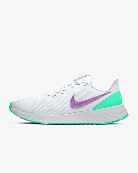 Women's Nike Revolution 5 'Green Glow / Violet' .97 Free Shipping