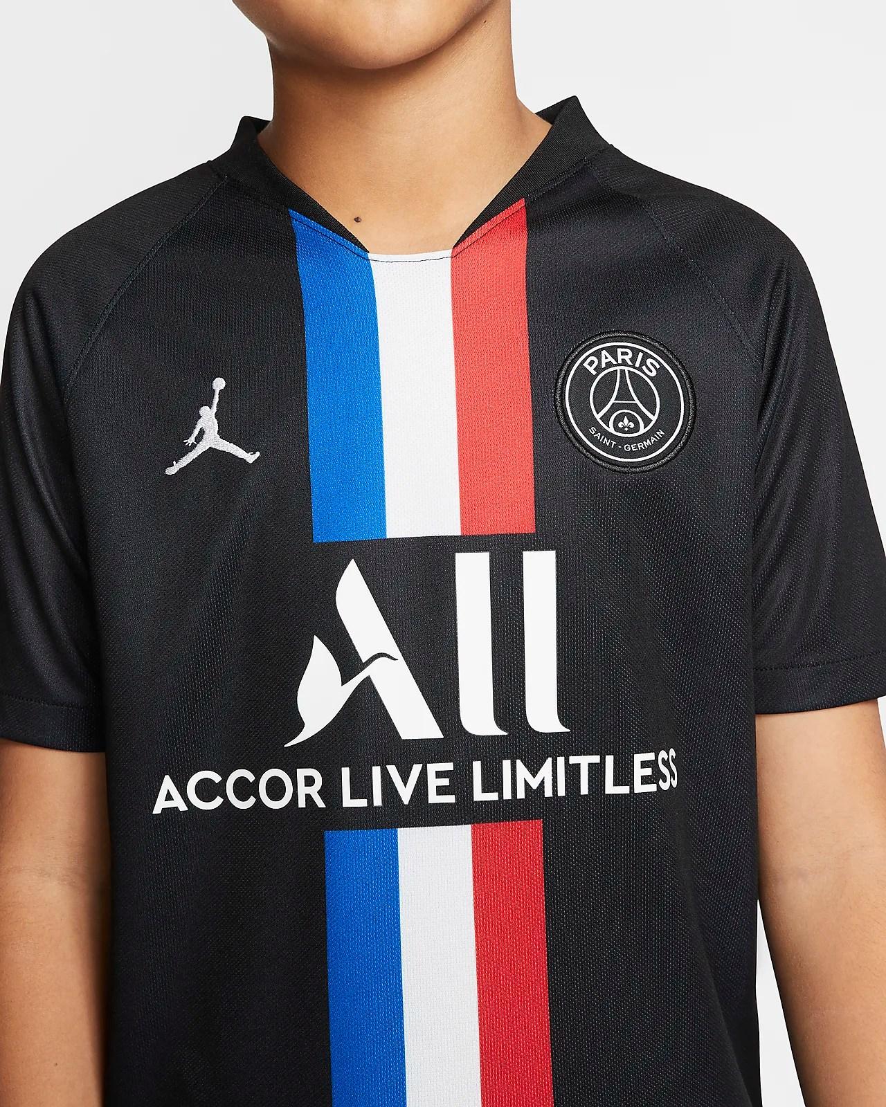 jordan x paris saint germain 2019 20 stadium fourth older kids football shirt